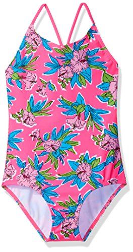 (Kanu Surf Girls' Little Krista Floral 1-pc Swimsuit, Pink,)