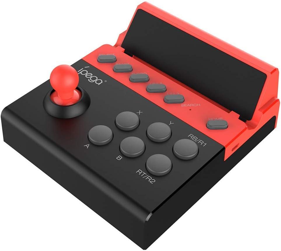 LDJC Controlador de Juegos móvil, Joystick inalámbrico Diseño del botón Conexión inalámbrica 8 Metros Recargable 380Mah Voltaje DC3.7V para Android/Apple/Tablet