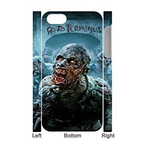 Iphone 4,4S Walking Dead 3D Art Print Design Phone Back Case DIY Hard Shell Protection DF098511