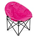 Lucky Bums Moon Camp Adult Indoor Outdoor Comfort Lightweight Durable Chair with Carrying Case, Pink, Large
