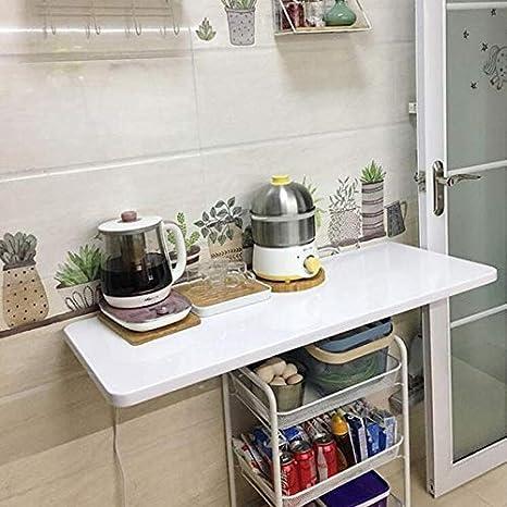 TXX Mesa simple montada en la pared, escritorio plegable ...