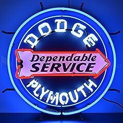 Neonetics 5DODGE Dodge Dependable Service Neon Sign