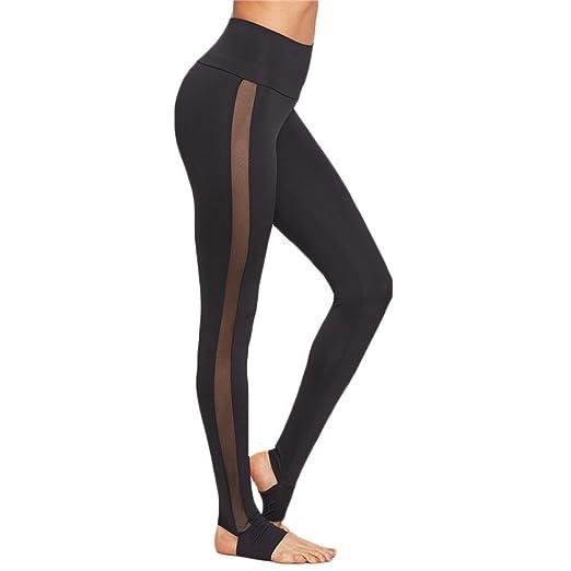4fc8203ec0f Pengy Womens Mesh Splice Yoga Skinny Workout Gym Leggings Fitness Sports  Pants