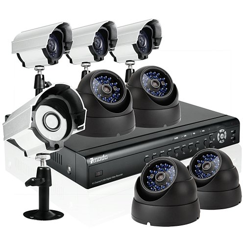 Zmodo 16CH H.264 Home Security DVR Video Surveillance CCTV Camera System With 4 Bullet 4 Dome CCD image sensor Camera No Hard Drive