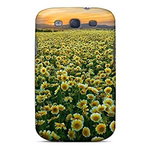 Fashion Tpu Case For Iphone 5/5S- Yellow Flowers Field Nature Defender Case Cover
