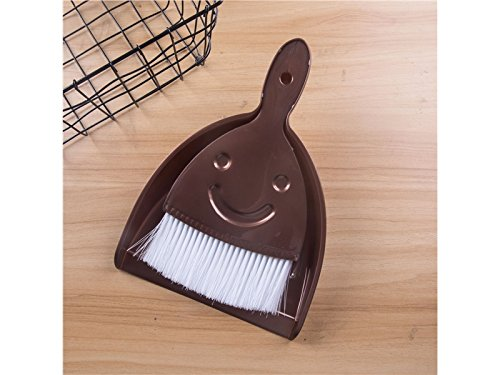 Convenient 1Set Mini Dustpan Broom Table Cleaning Broom Desktop Keyboard Brush (Brown) Electronic Device Zehaer