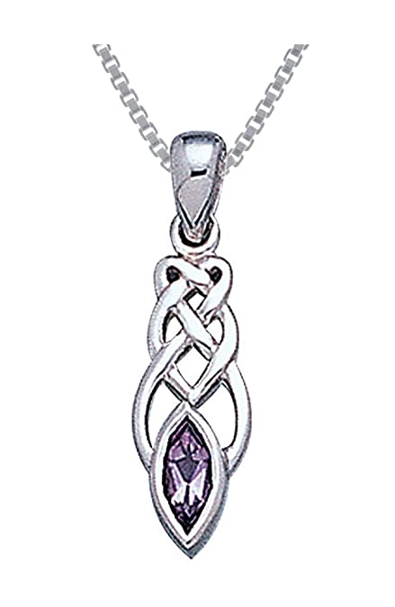 Jewelry Trends Sterling Silver Celtic Knot Work Horse Head Pendant Necklace 18