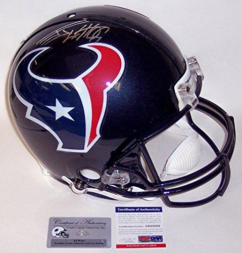 Pro Line Authentic Football Helmet - JJ Watt Autographed Hand Signed Houston Texans Full Size Authentic Proline Football Helmet - PSA/DNA