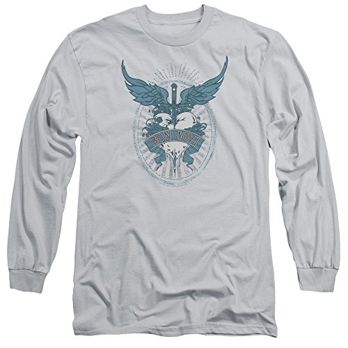 Bon Jovi Winged Heart Unisex Adult Long-Sleeve T Shirt for Men and Women (T-shirt Winged Heart)