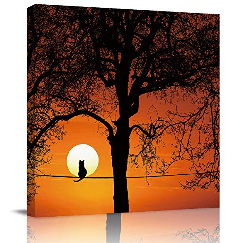 Best Oil Paintings Canvas Prints Cat Trees - SUN-Shine Canvas Wall Art Oil Painting