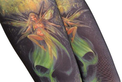 Gothic Alchemy Fairy & Skull - Vert Leggings Taille Unique (34-40)