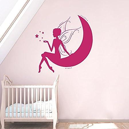 Wall Stickers Fairy Girls Bedroom Princess Kids Art Decals Vinyl Home Room Dec
