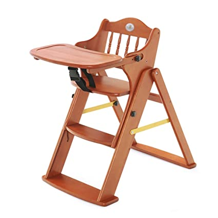 Amazon.com: High Chairs Wood Baby Folding Childrens Dining Chair ...