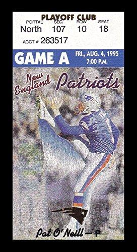 1995 Detroit Lions v New England Patriots Ticket 8/4/95 Bill Parcells 24966