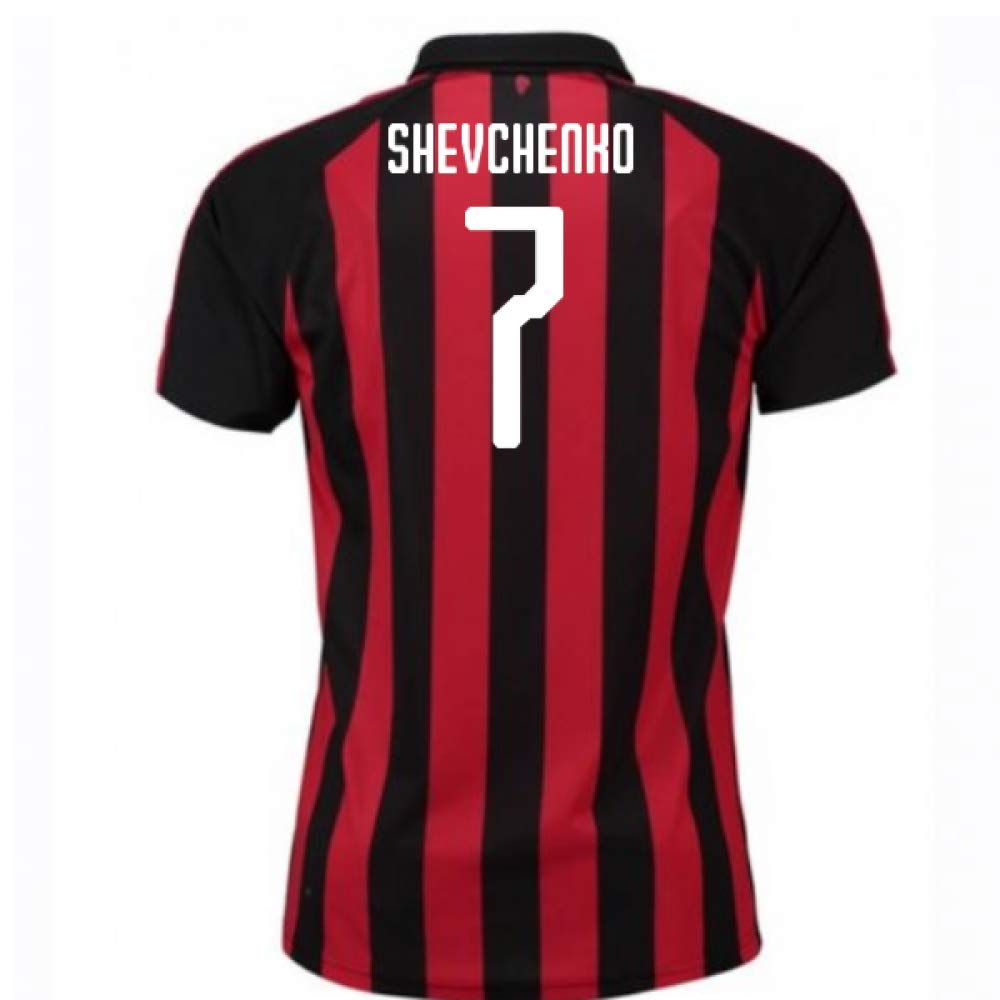2018-2019 AC Milan Puma Home Football Soccer T-Shirt Trikot (Andrei Shevchenko 7) - Kids