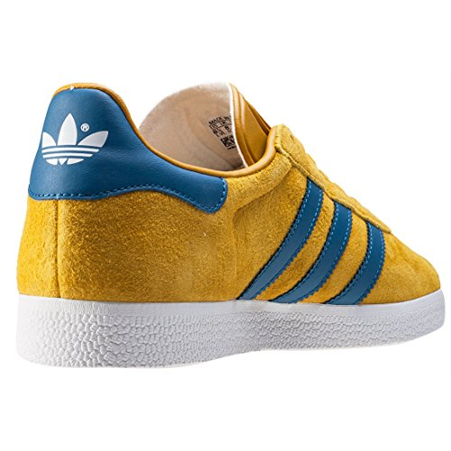 Adidas Uomini Gazzella Scarpe Fitness, Bordeaux, 41 Eu Giallo Blu