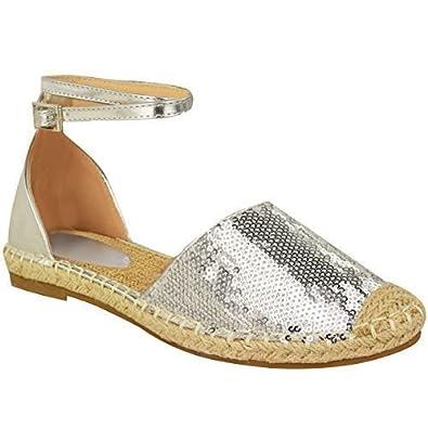 Sandales à espadrilles à cheville KwSabPtb0f
