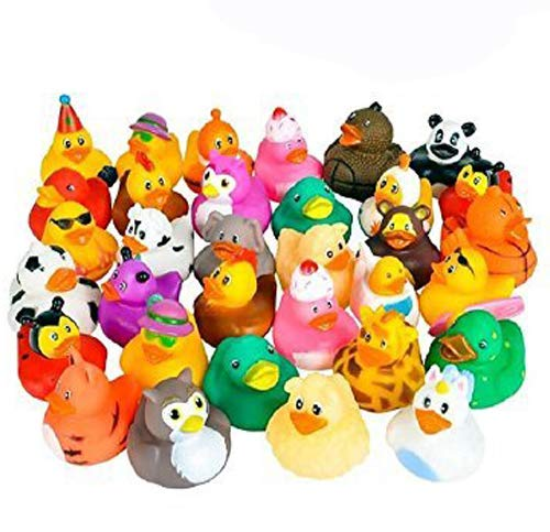 Kicko Rubber Ducks - 50 Assorted Pieces-2 Inch - for Kids, Party Favors, Gift, Birthdays, Baby Showers, Baby Bath Toys, Bath Time, Easter Party Favors, and More (50 Pack) by Kicko (Image #3)