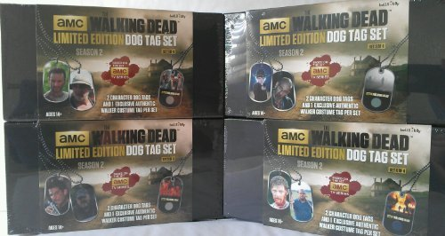 - Bundle of 4-The Walking Dead Limited Edition Dog Tag Complete Set
