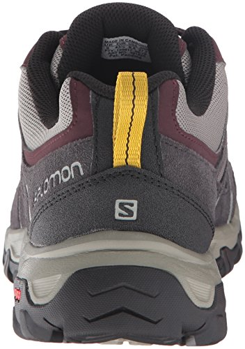 Salomon L39182600, Zapatillas de Senderismo para Hombre Gris (Dark Titanium /     Black /     Purple Black)