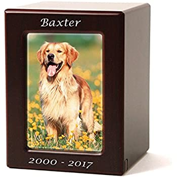 Amazoncom Photo Frame Wood Memorial Urn For Cats And Dogs