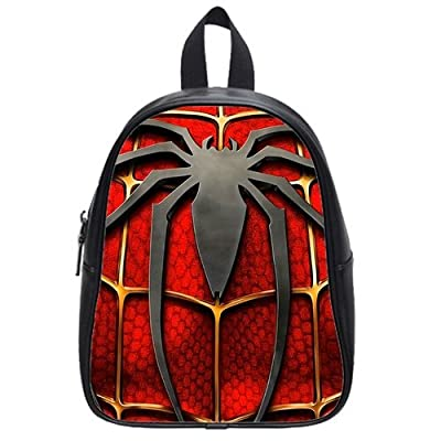 Super Hero Spider-Man Logo Custom Kid's School Bag/Travel Bag/Shoulder Bag/Backpack 15125 inches(Large Size)