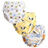 Enfants Chéris 3Pcs Graphic Potty Training Underwear Baby Girls Boys Reusable Nappies Cloth Diaper Kids Toilet Training Pants