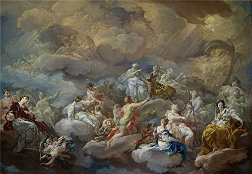 'Giaquinto Corrado San Lorenzo En La Gloria 1755 56 ' Oil Painting, 16 X 23 Inch / 41 X 59 Cm ,printed On Polyster Canvas ,this Imitations Art DecorativePrints On Canvas Is Perfectly Suitalbe For Home Theater Decor And Home Decoration And Gifts