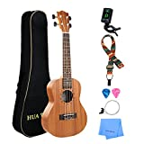 Professional Tenor Ukulele Kit Mahogany HUAWIND Uke Starter Kit Hawaiian Ukulele Beginner Kit for Players Kids Adults Beginners Students Children (Tenor Ukulele)