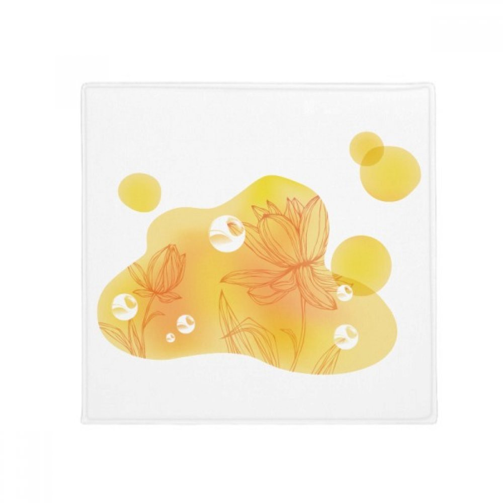 DIYthinker Lotus Flower Bubble Plant Flower Anti-Slip Floor Pet Mat Square Home Kitchen Door 80Cm Gift