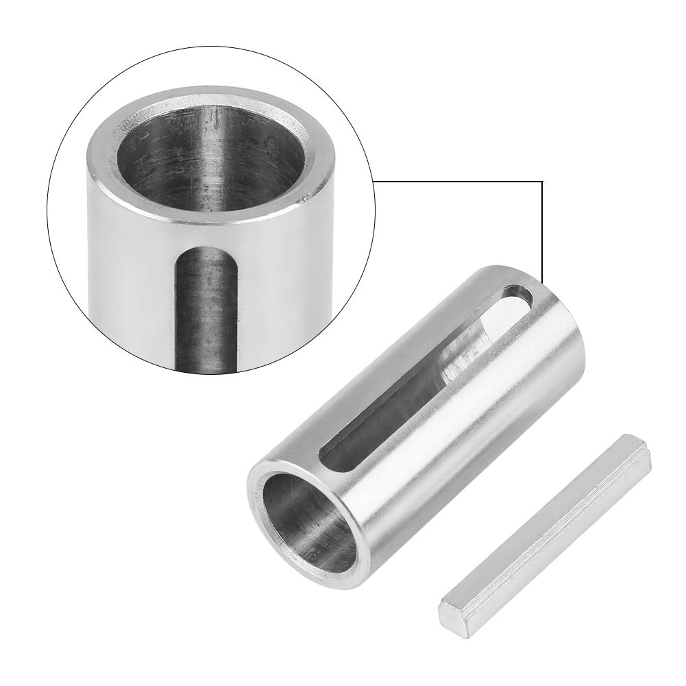 Acouto 3//4 inch to 1 inch Gas Engine Pulley Crank Shaft Sleeve Adapter with Step Key