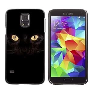 Designer Depo Hard Protection Case for Samsung Galaxy S5 / Dark Cat Eyes