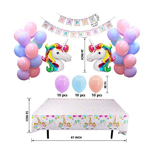Unicorn Party Supplies - Bonus Unicorn Headband Birthday Sash and Balloons- Serves 16 Guests - Unicorn Birthday… 7