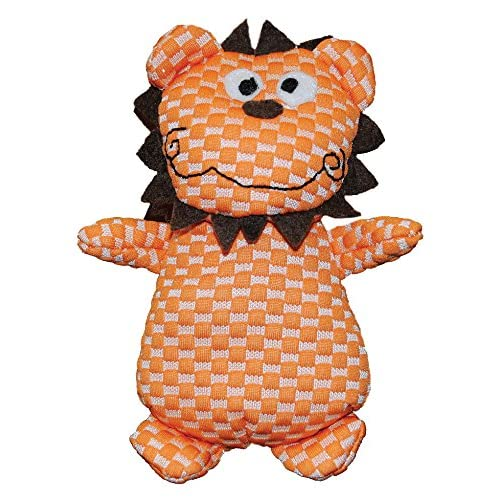 chic Patchwork Pet TuffPuff Lion 6-Inch Pet Toy