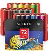Arteza Ensemble De 72 Crayons De Couleur De Qualité Professionnelle, Superposition De Couleurs Po...