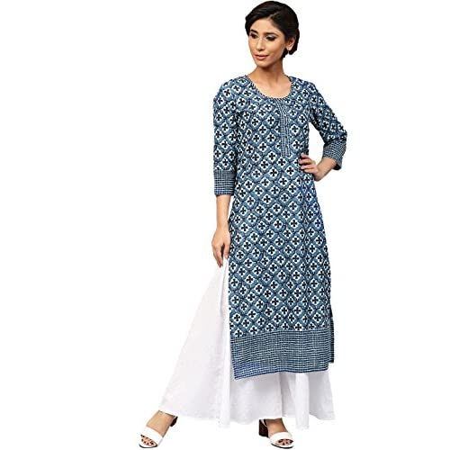 51Ewoi T0wL. SS500  - Amayra Women's Cotton Straight Kurti
