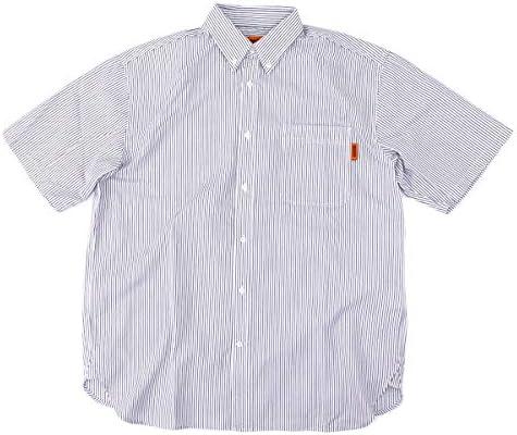 メンズ ストライプボタンダウンシャツ[U2013159-B]