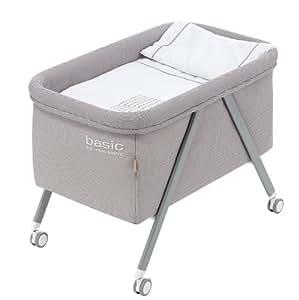 Minicuna aluminio Basic Interbaby Gris incluye Textil exterior + Colchón + Colcha + Almohada