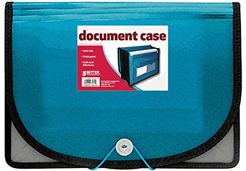 Better Office Products Poly Document Case, 2 Count image