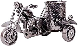 TECHVIDA Creative Office Desktop Accessories,Harley The Motorcycle Loves Metal Pencil Pen Holder