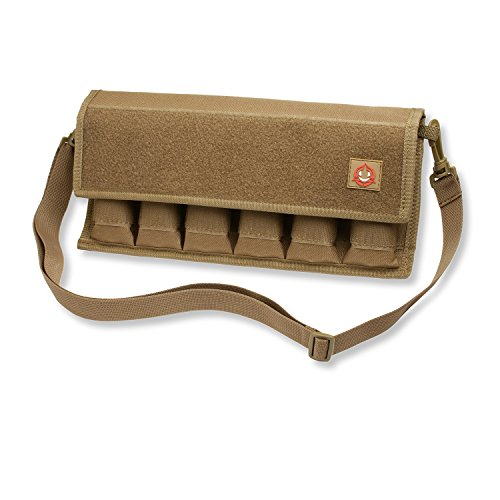 Orca Tactical Pistol Magazine Pouch 12 Single and 6 Double Stack Ammo Mag Holder (Pouch Only) (Coyote Brown)