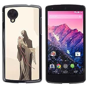Shell-Star Arte & diseño plástico duro Fundas Cover Cubre Hard Case Cover para LG Google NEXUS 5 / E980 /D820 / D821 ( Love Death Monster Blonde Beige )