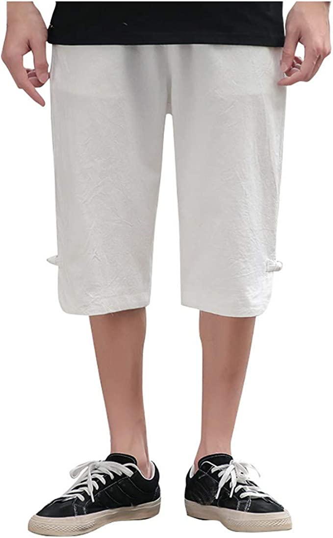 Pantalones Hombre-Pantalones Cortos Hombre-pantalón Corto de algodón y Lino para Hombres-Pantalón Corto Casual de Hombre-Pantalones de Trabajo de Hombre Verano-Pantalones Cortos Hombre Vestir: Amazon.es: Ropa y accesorios