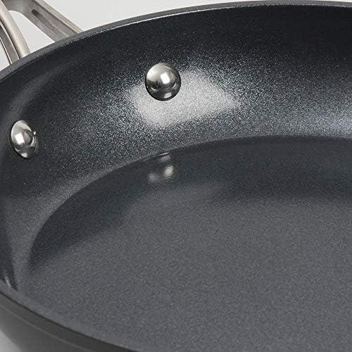 ProCook Professional Ceramic - Set 3 Poêles Induction - 20/24/28cm - Revêtement Antiadhésif Céramique & Titane - Poignée Inox Isolante