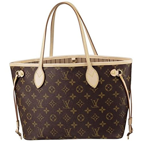 LOUIS V BAGS Monogram Handbags for Women Original : MONOGRAM CANVAS NEVERFULL GM of Coated Leather Wallet Canvas on Clearance.