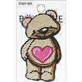Iron-On Appliques-Teddy Bear 1/Pkg