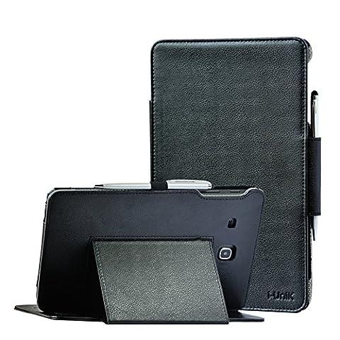 TAB E 8.0 case, Samsung Galaxy TAB E 8.0 inch SM-T377A/P/R/T/V Verizon/Sprint/US Cellular/AT&T/T-Mobile case by i-UniK Slim Folio Case [Bonus Stylus] (Otter Box Galaxy Tablet 4)