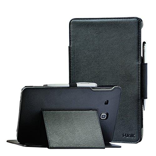 i-UniK Galaxy TAB E 8.0 inch Compatible SM-T377A/P/R/T/V Slim Folio Case [Bonus Stylus] (Black)