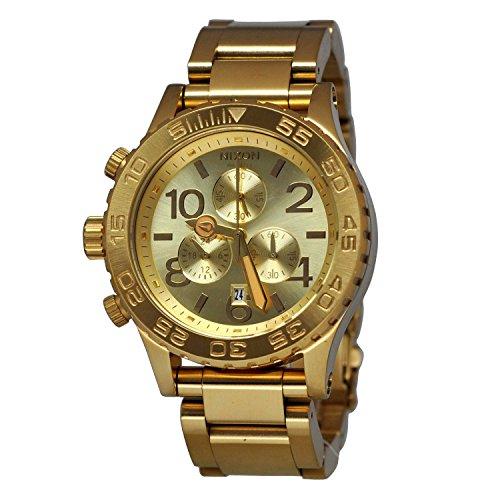 Nixon Unisex A037-502 42-20 Chrono Gold Watch