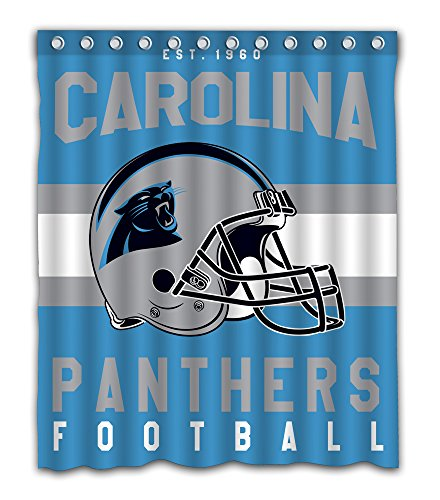 Sonaby Custom Carolina Panthers Waterproof Fabric Shower Curtain For Bathroom Decoration (60x72 Inches)